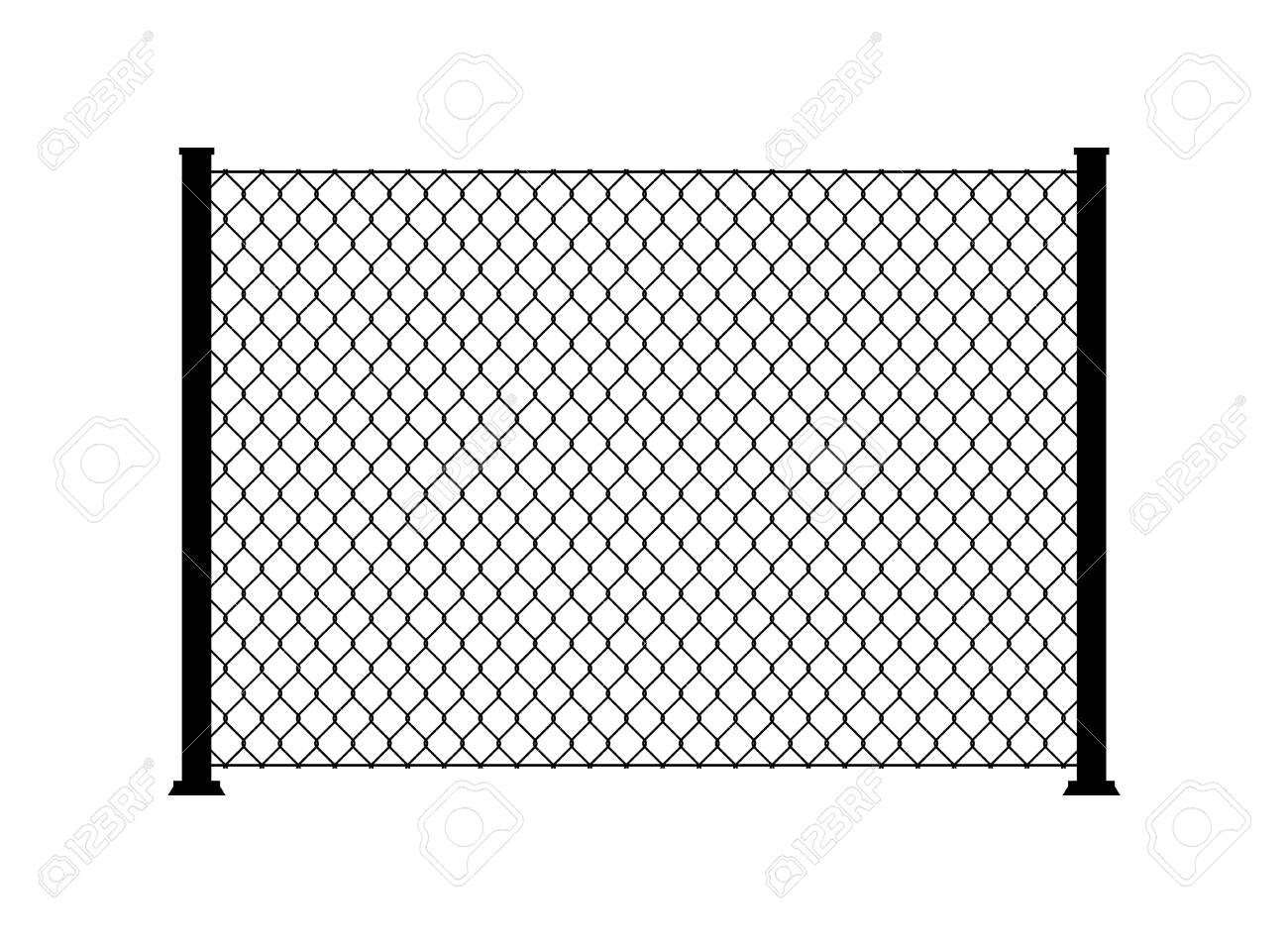 Fence wire metal chain link. Mesh steel net texture fence cage grid wall. - 133432970