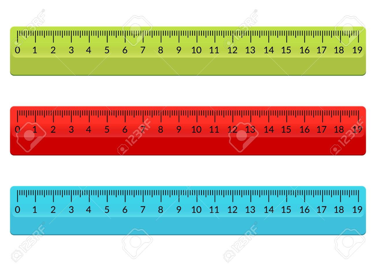 Ruler School Flat Centimeter Scale Inch Rule Millimeter Plastic Royalty Free Cliparts Vectors And Stock Illustration Image 133433836