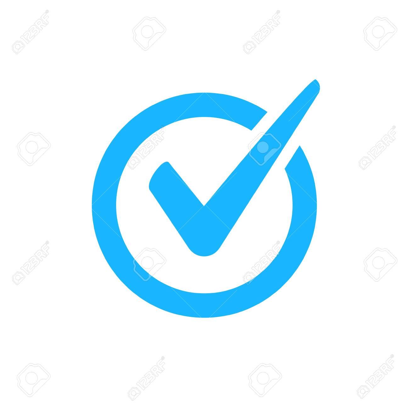 Check mark vector icon. Checkmark right symbol tick sign. Ok button correct circle icon - 136276718