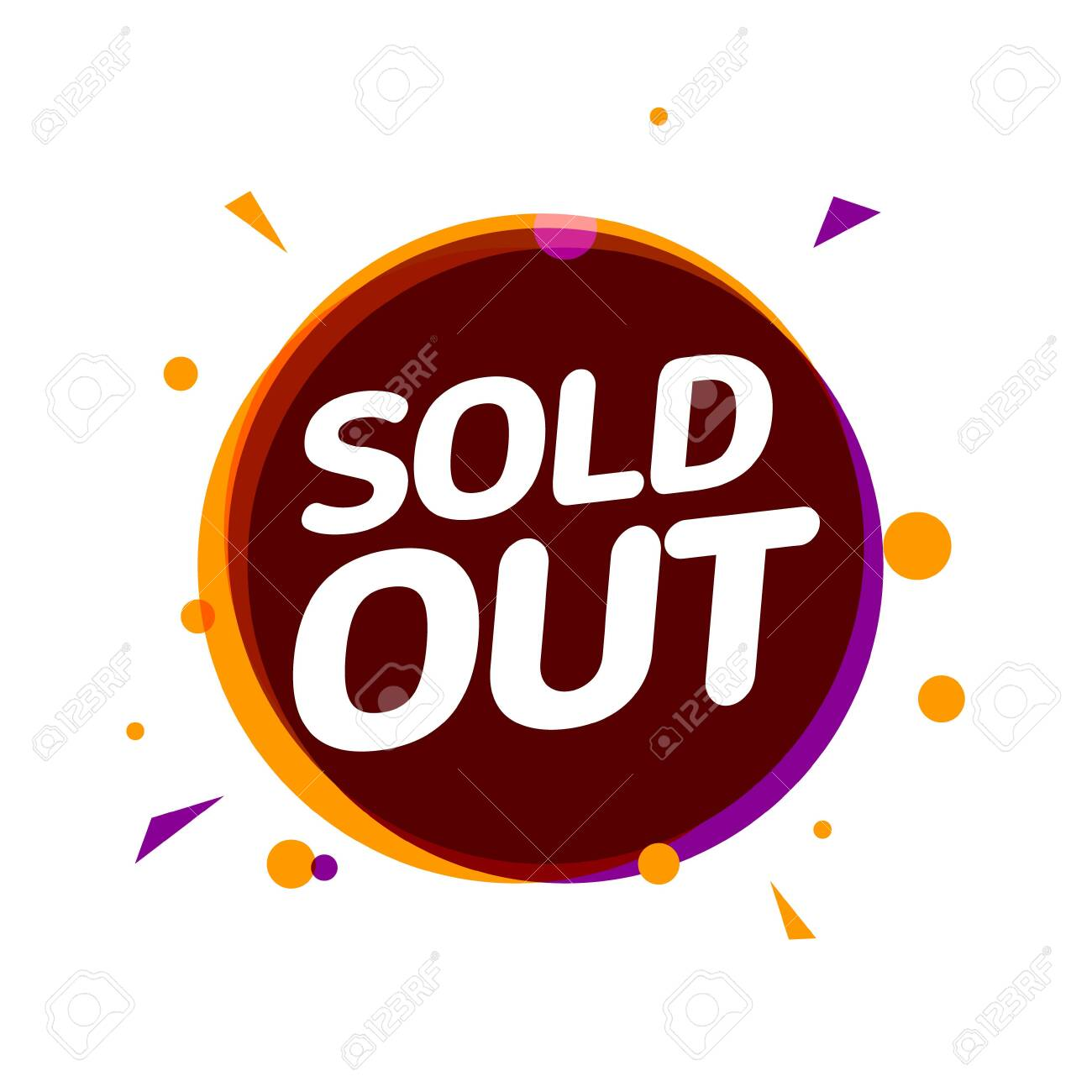 Sold Out Banner Tag Soldout Sign Isolated Label For Real Estate Royalty Free Cliparts Vectors And Stock Illustration Image 136657024
