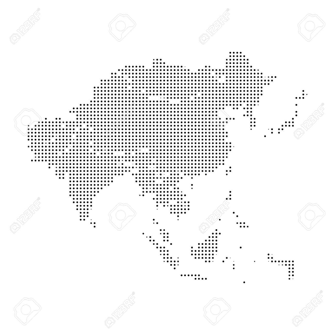 Europe pixel vector map. Square dot pixel Europe map background - 165218877