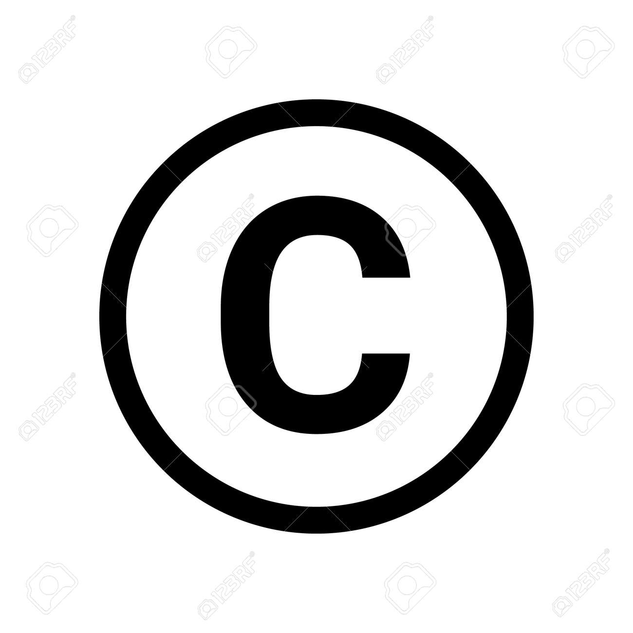 Copyright symbol icon vector. Copyright sign isolated icon trademark - 167669976