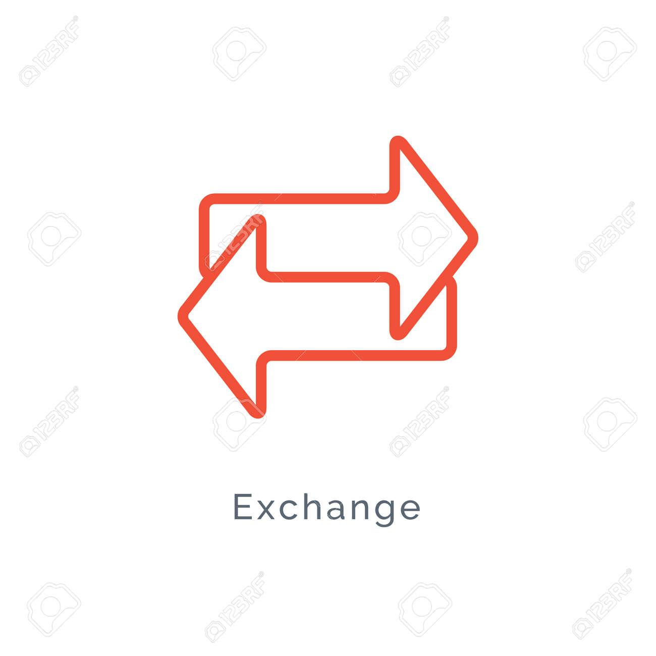 Exchange arrow icon, reverse swap vector switch flip. Exchange data symbol icon - 168952667