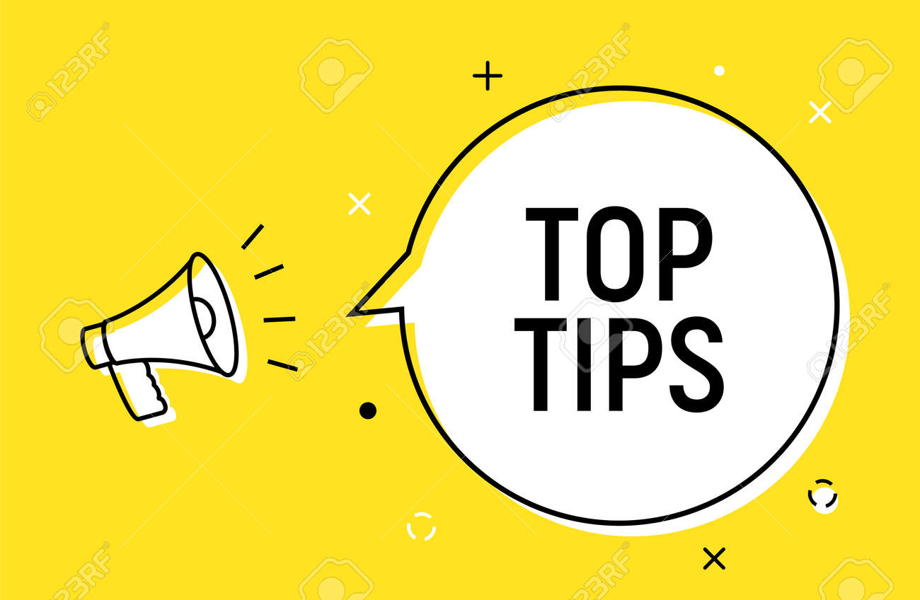 Top tips quick trick reminder advice business icon. Top tip helpful information - 168952876
