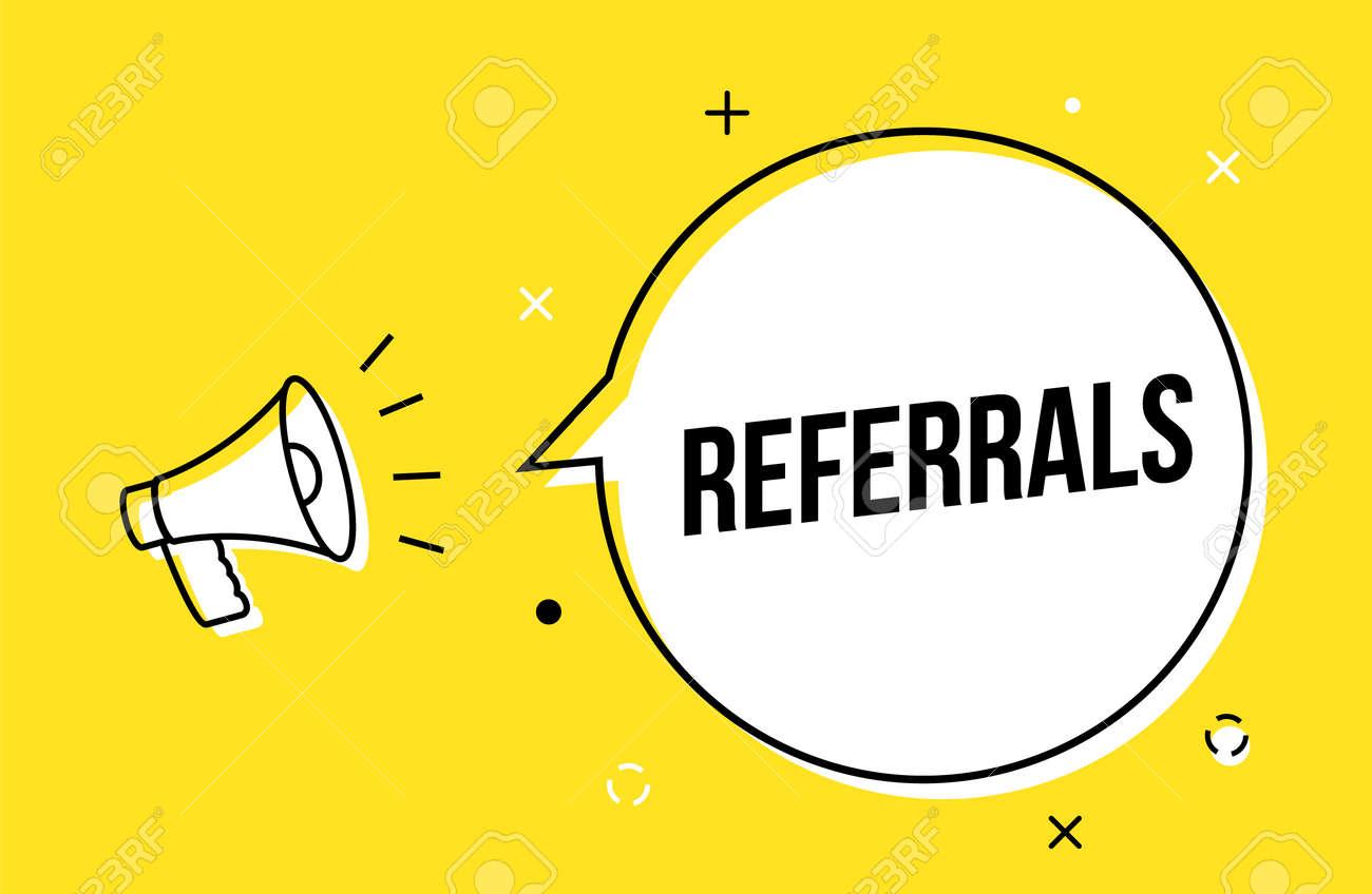 Referral spread icon friend customer icon review marketing referral megaphone - 168952885