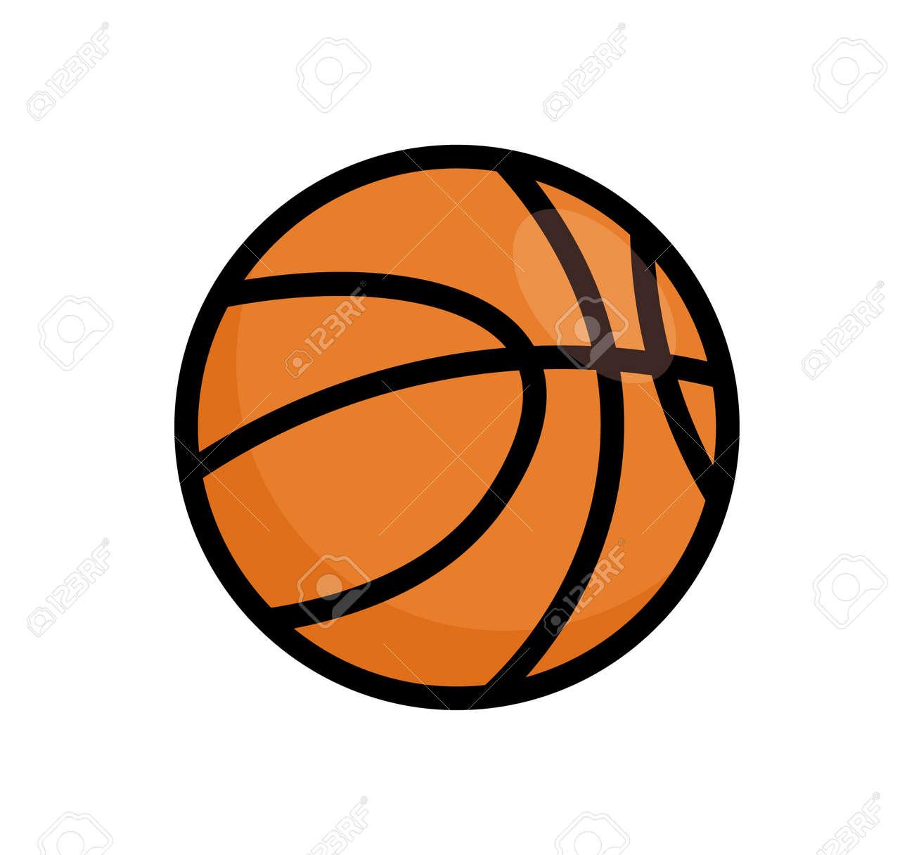 Basketball ball vector icon. Basket ball logo illustration flat isolated design orange minimal symbol - 168932604