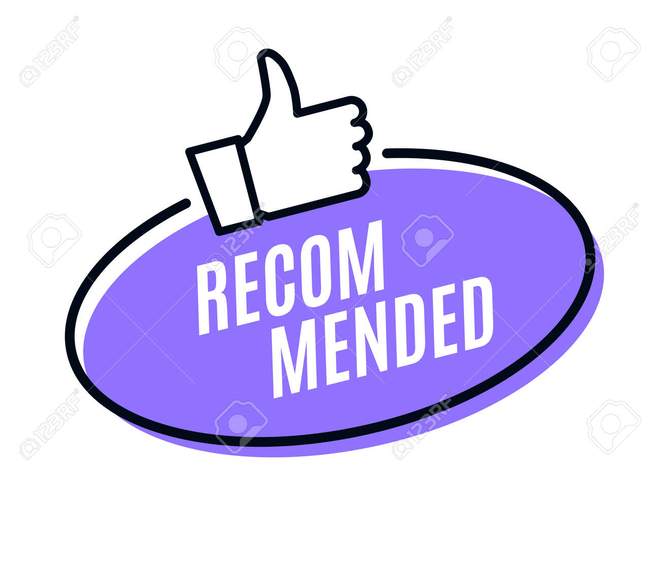 Recommend best advantage icon. Good job ok recommend thumb up sticker - 168932610