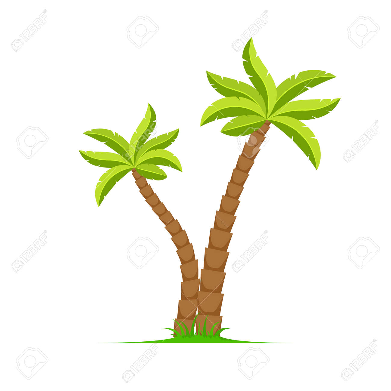 Palm tree vector island coconut cartoon icon. Palmtree island desert isolated tropical icon - 168952928