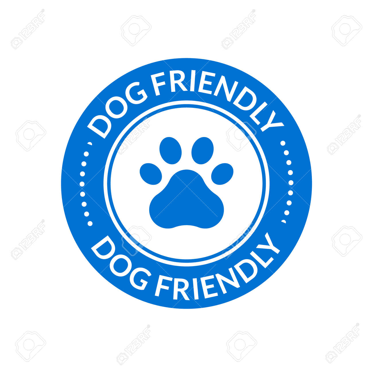 Pet animal friendly sign. Paw dog cat place icon certified - 168952985