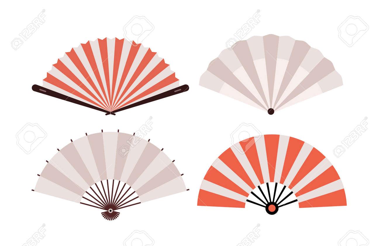 Hand fan chinese fold clipart icon. Japan held fan vector handfan - 168952986
