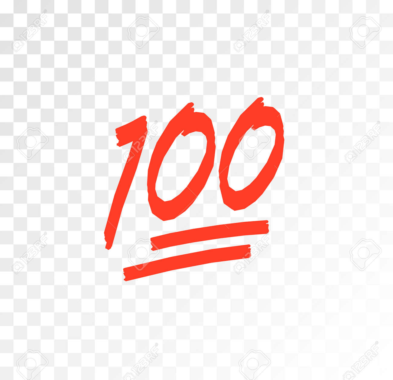 100 hundred emoticon vector icon. 100 emoji score sticker - 168953053