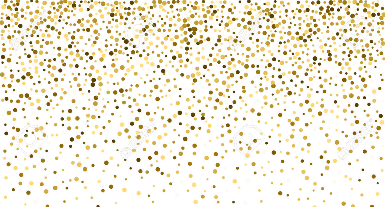 Glitter gold background sparkle dust vector confetti explosion. Golden glitter dust pattern - 168995407