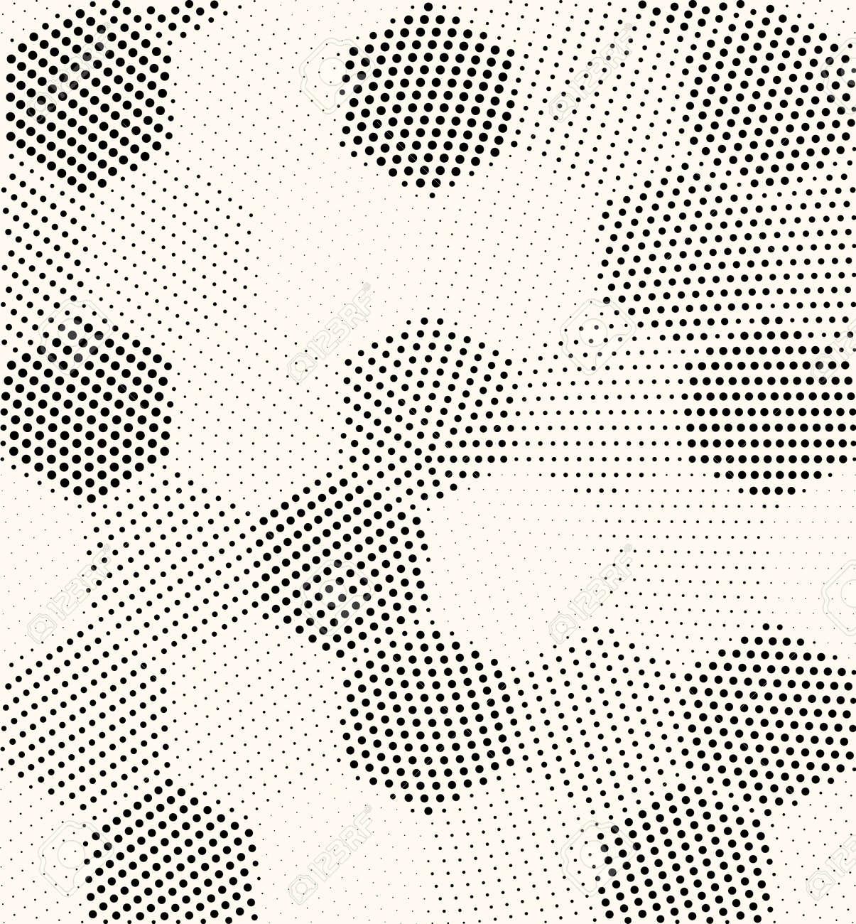 Hexagon geometric pattern vector seamless halftone design. Dot hexagon texture seamless - 168995409
