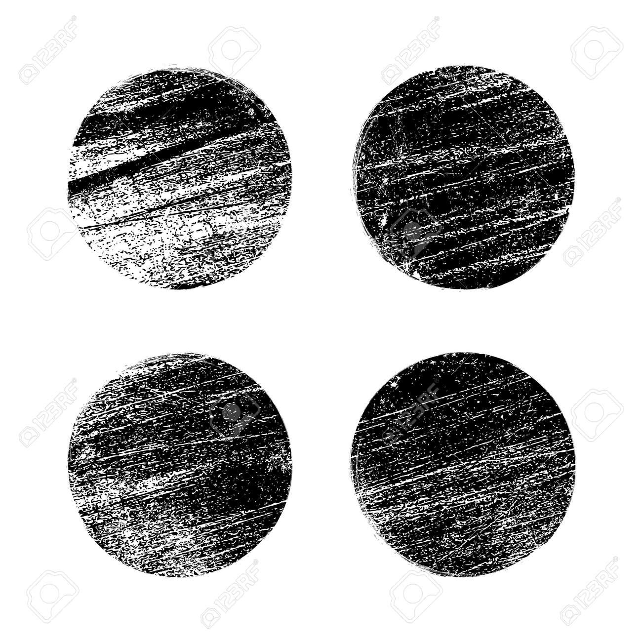 Grunge texture brush stamp vector circle dot. Rubber graphic grunge stamp vintage background - 168995412