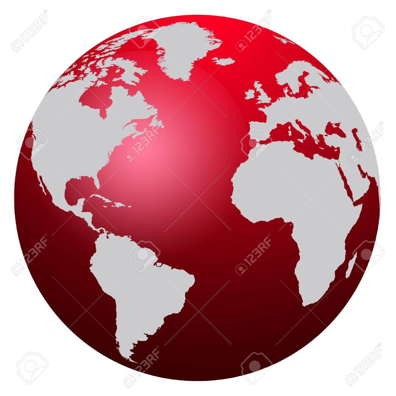 World map red globe america europe and africa stock photo world map red globe america europe and africa stock photo 2554416 gumiabroncs Choice Image