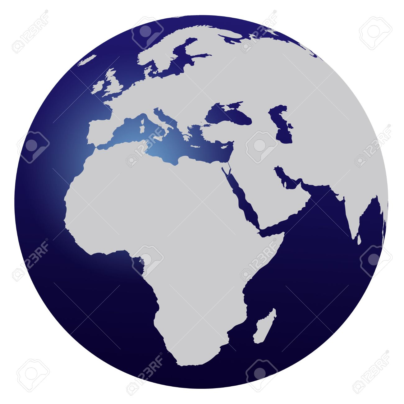World map blue globe europe and africa stock photo picture and stock photo world map blue globe europe and africa gumiabroncs Choice Image
