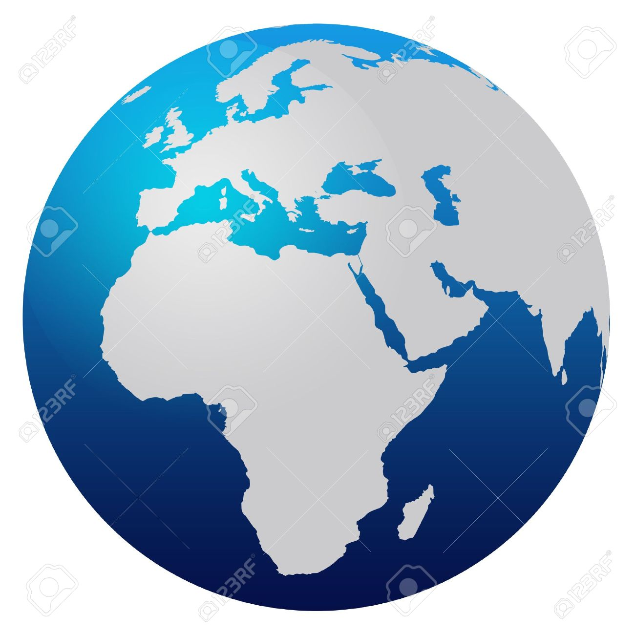 World Map Blue Globe Europe And Africa Photo Picture And – Globe Map of Europe