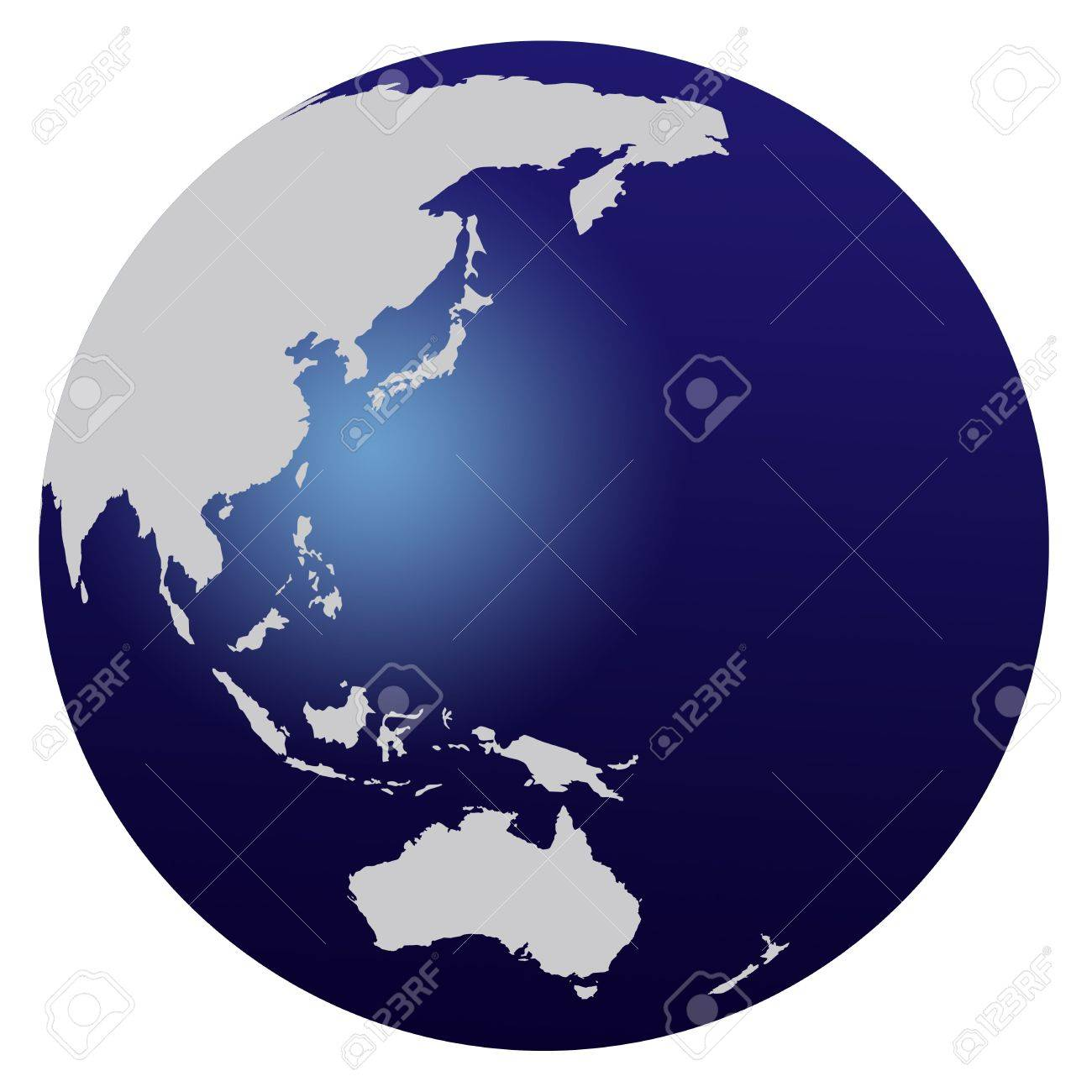 stock photo world map blue globe asia and australia