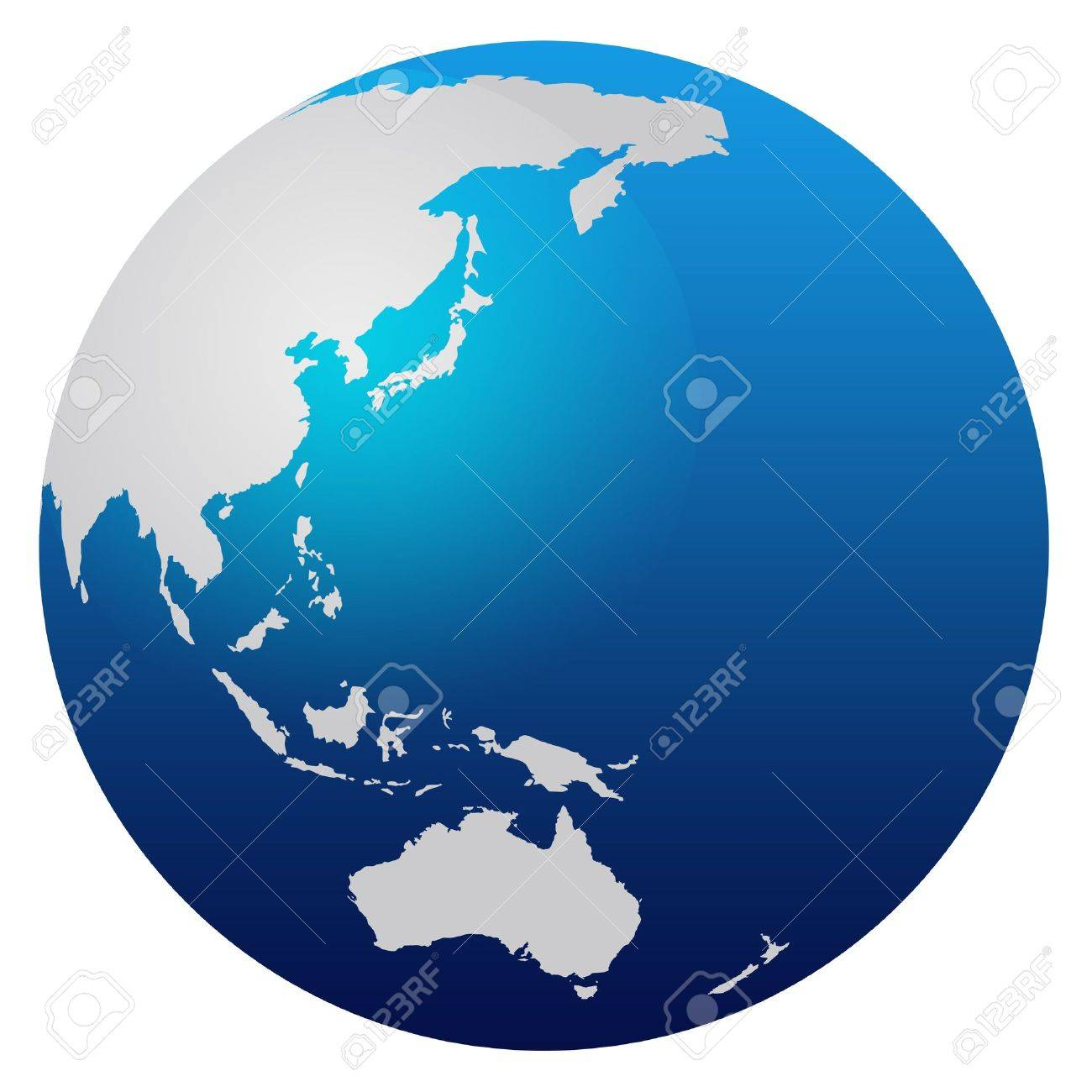 World Map Blue Globe Asia And Australia Stock Photo Picture And - Australia in world map