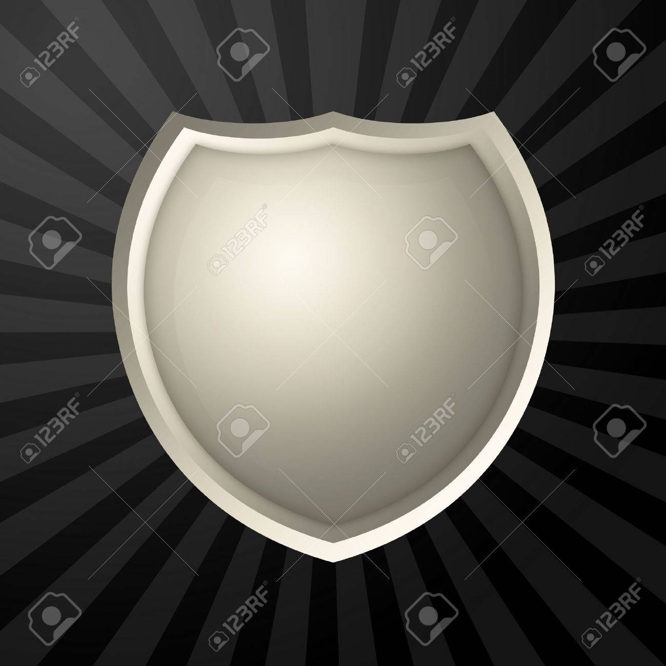 Metal blank icon over rays background Stock Photo - 2554406