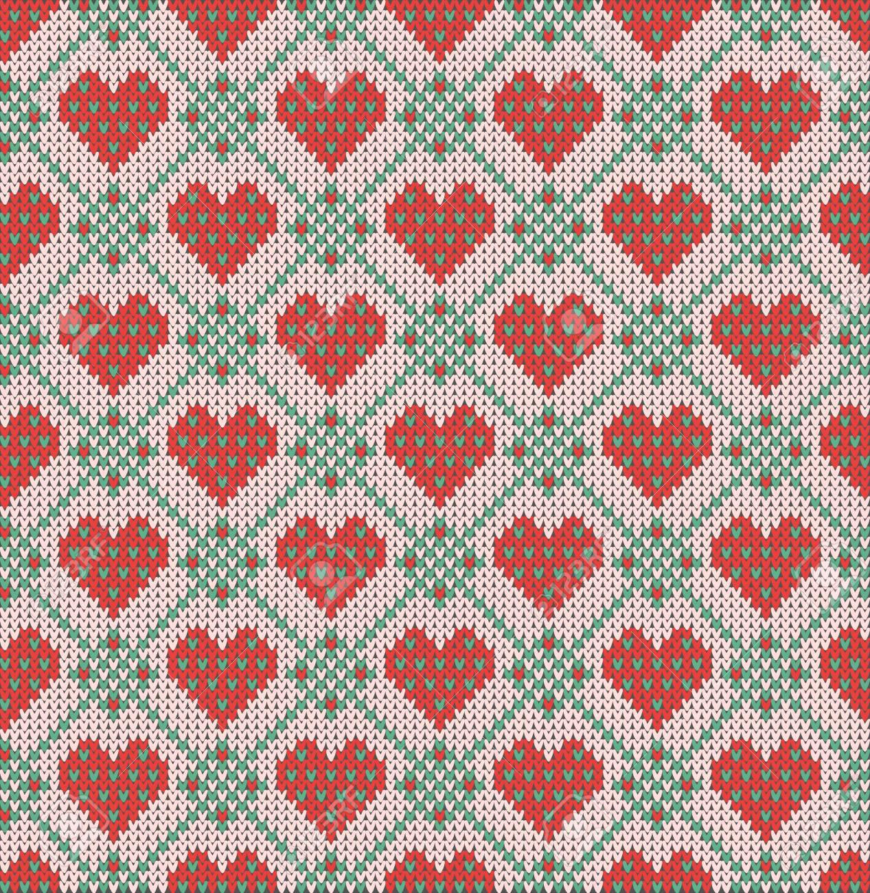 Patrón Sin Fisuras En El Tema Del Día De San Valentín Con Una Imagen ...