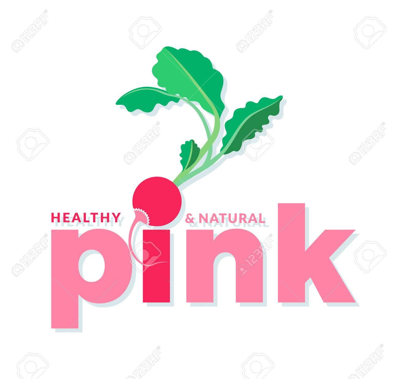 elementos de color rosa y verde del logotipo con la palabra rosa