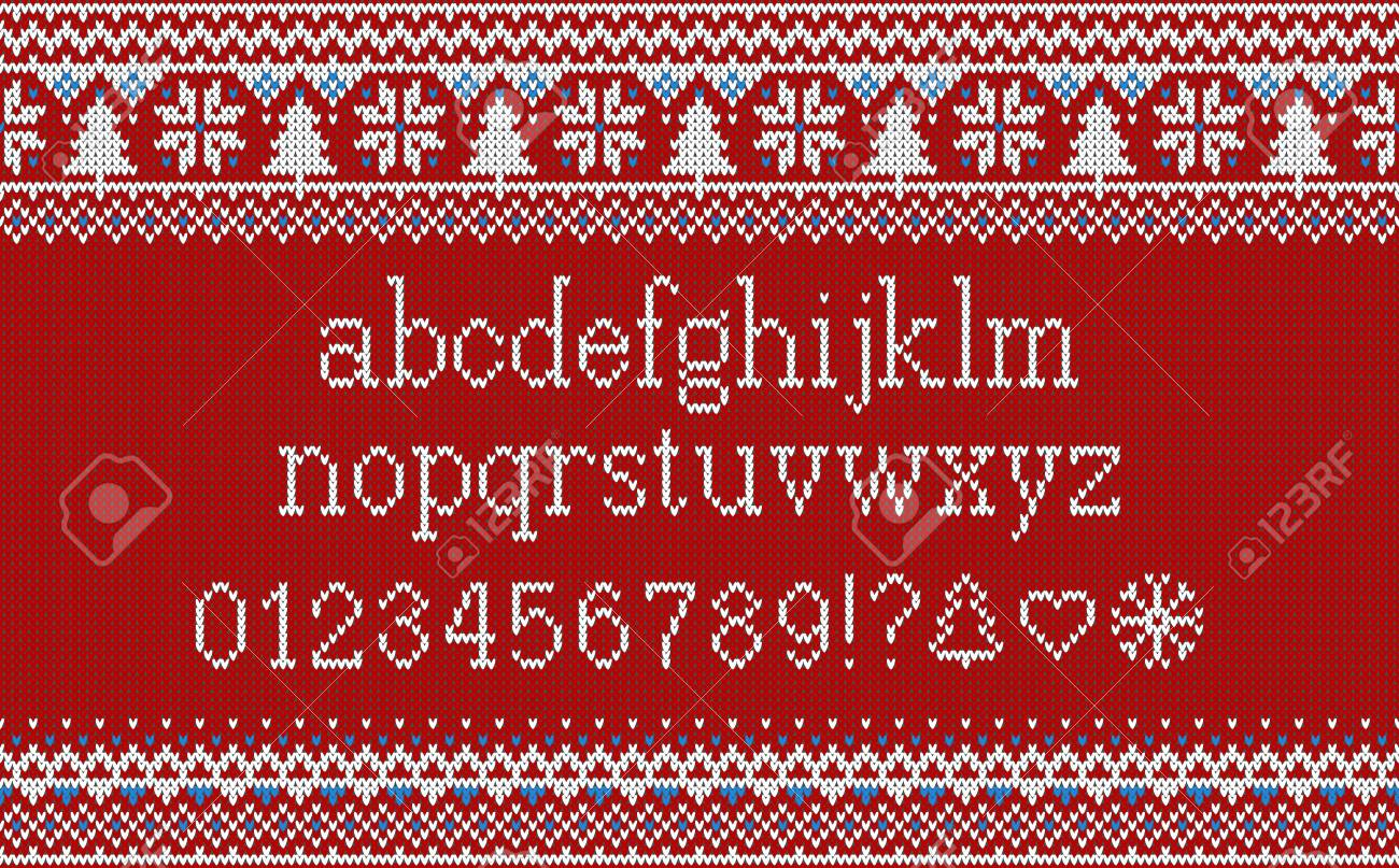 Attractive Knitted Alphabet Pattern Gift - Sewing Pattern for ...