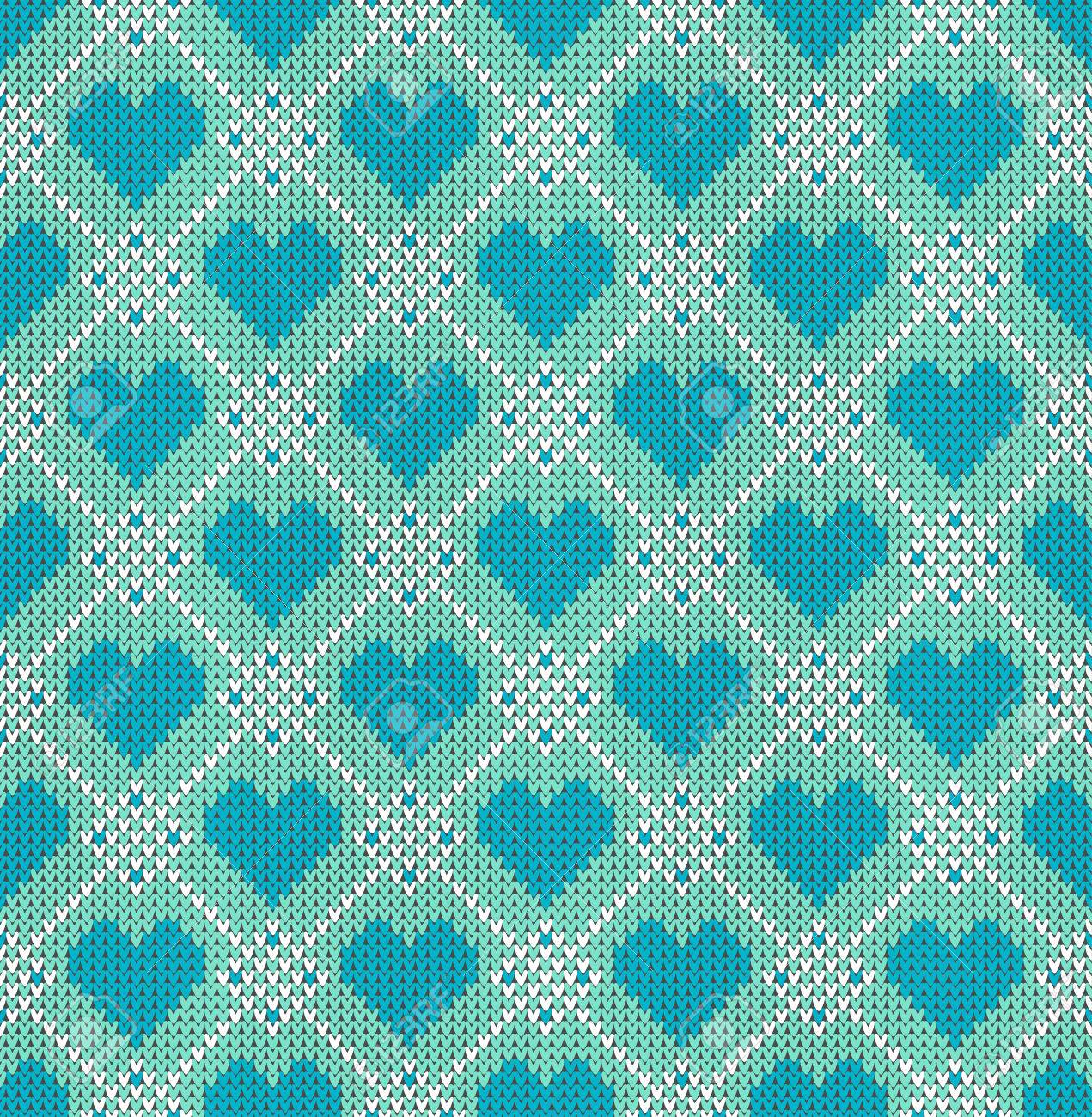 nahtlose muster zum thema valentinstag mit einem bild der norwegischen und fairisle muster trkis - Fair Isle Muster
