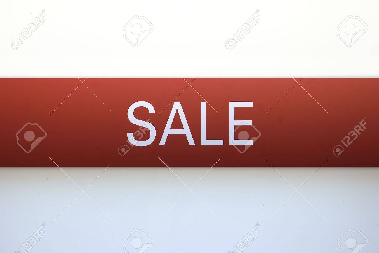 sign advertising the sale of the business prospect banner ad red on a white background beautiful for advertising agencies Stock Photo - 5414881