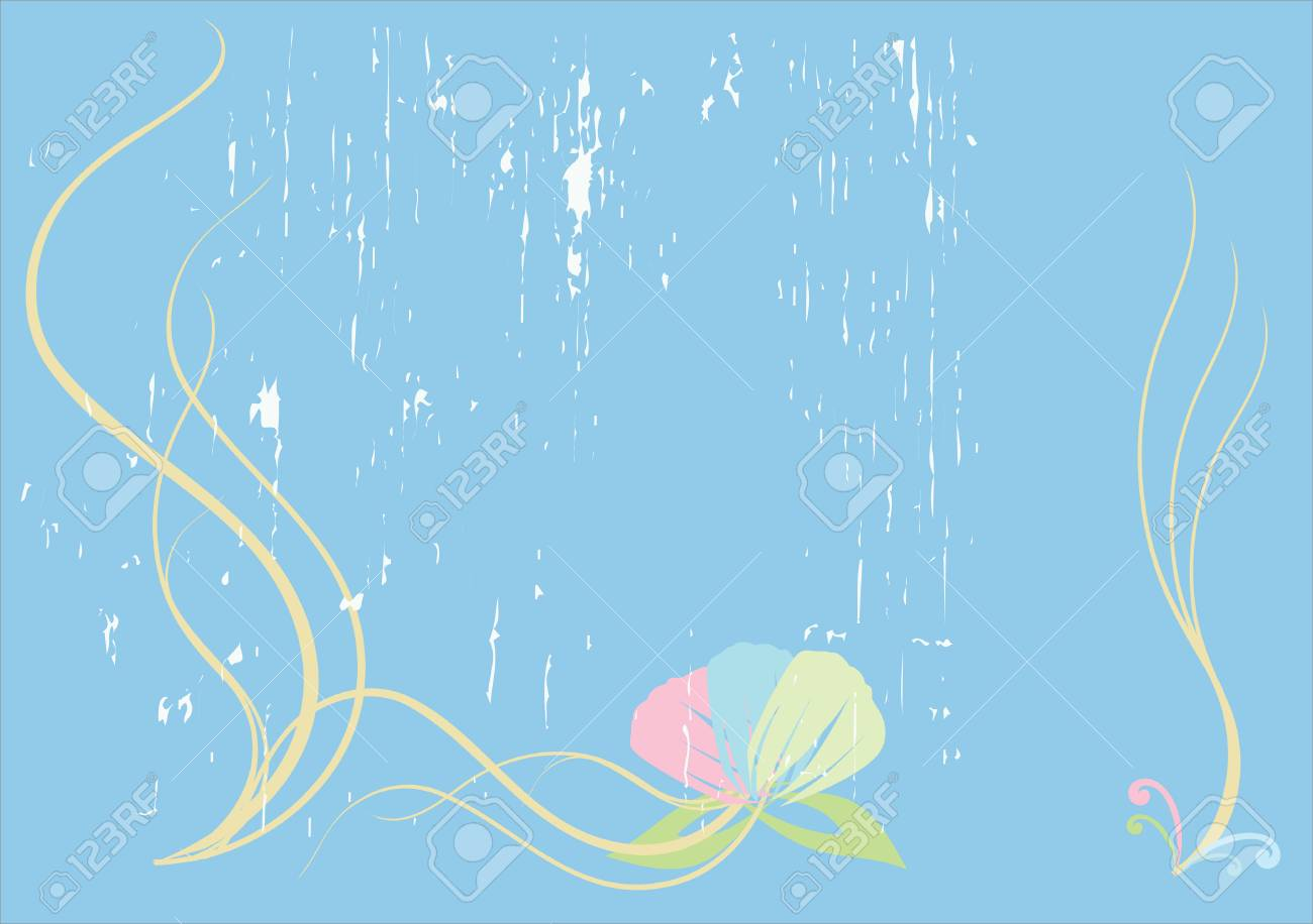 blue background with decorative elements for design and designers Stock Vector - 6122419