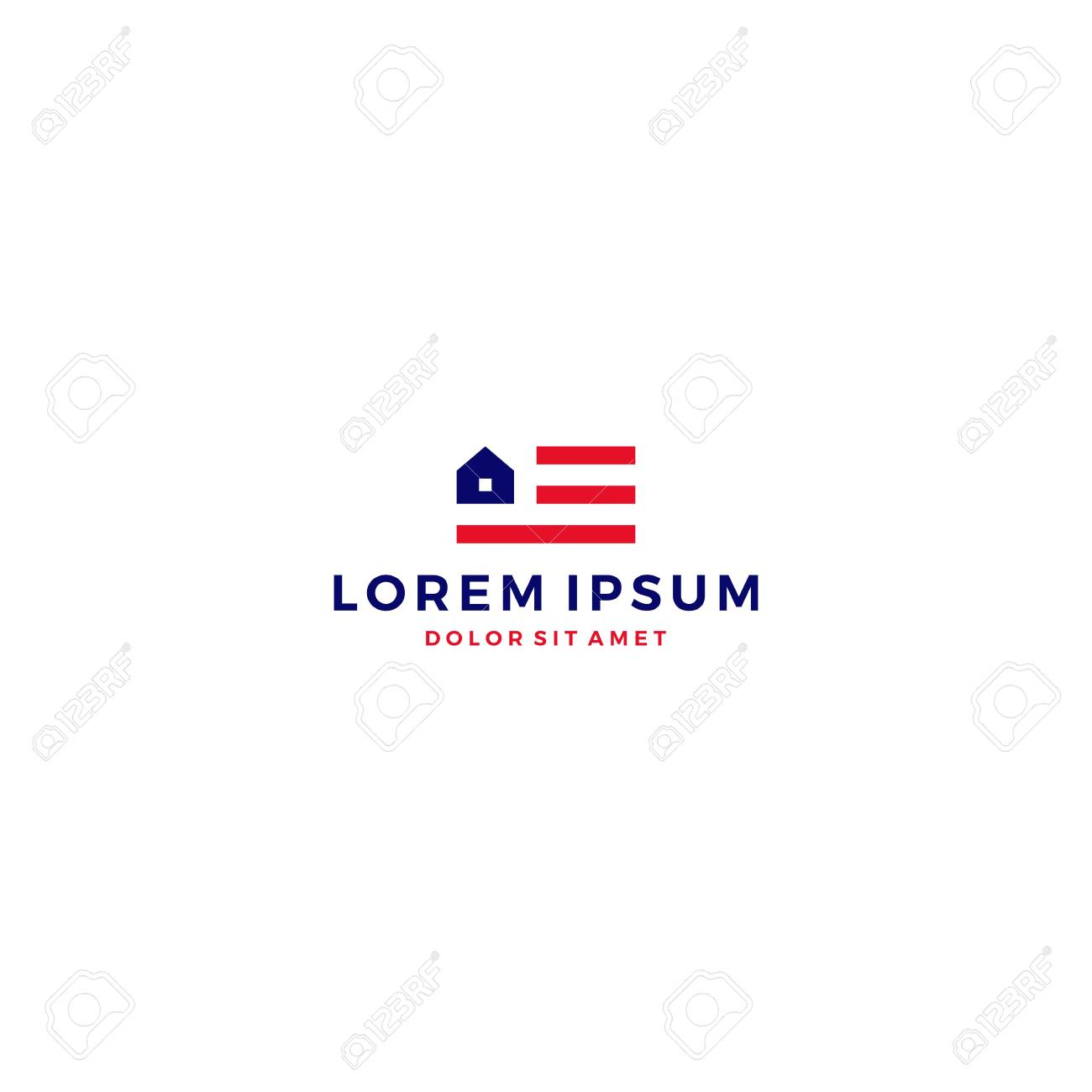 Usa Home House American Flag Logo Vector Template Icon Royalty Free Cliparts Vectors And Stock Illustration Image 89504369