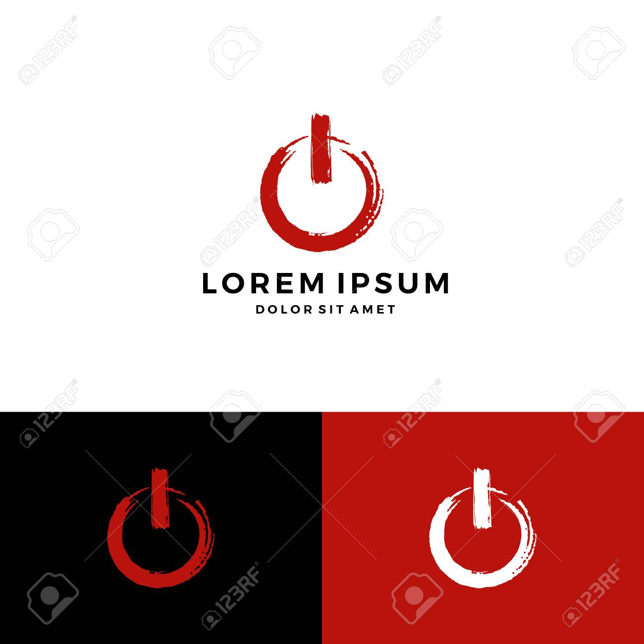 A Power Button Symbol Brush Stroke On Off Icon Download Royalty Free
