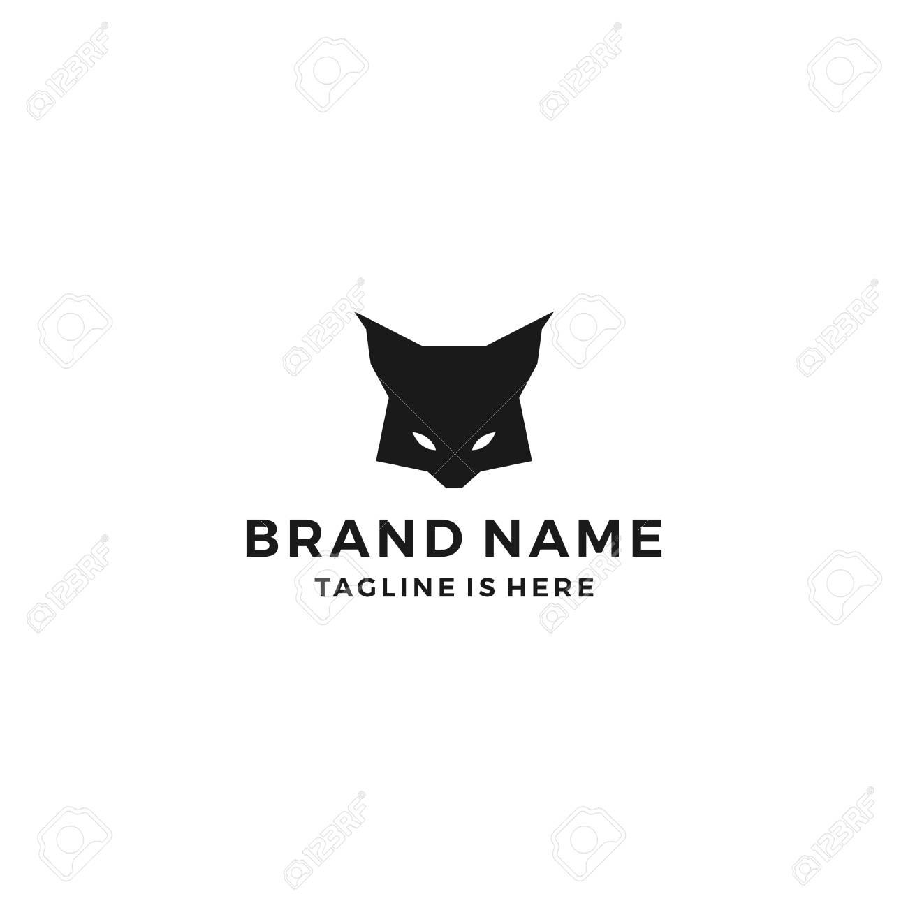 lynx head black logo vector icon download