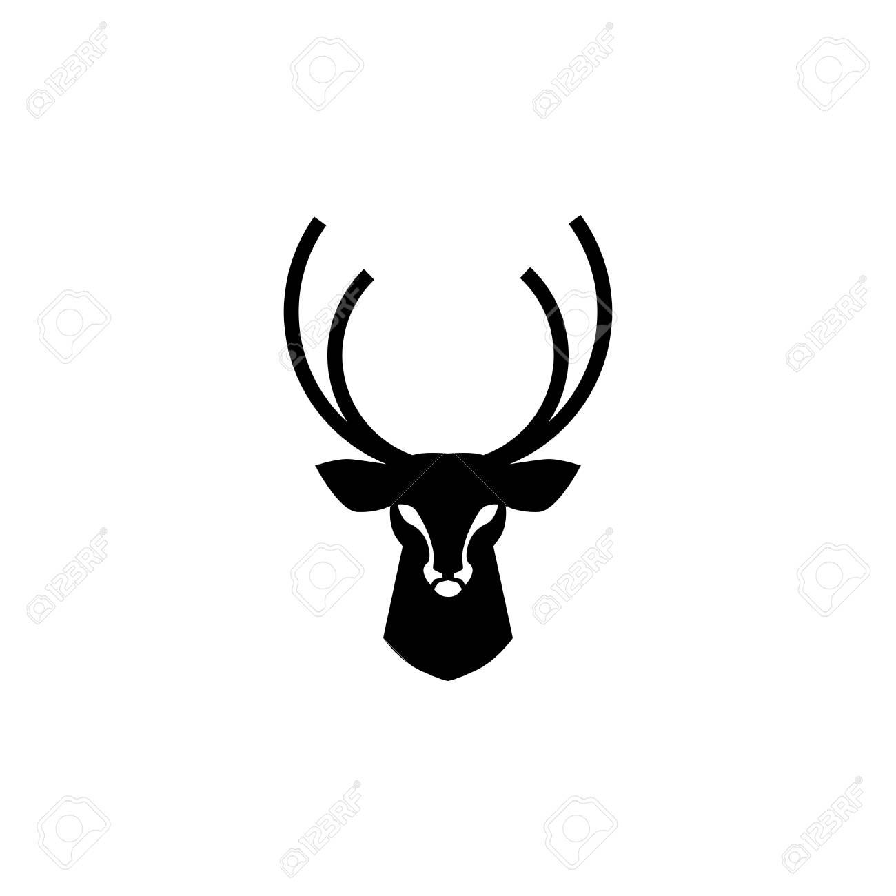 deer head logo vector design inspirations - 107801737