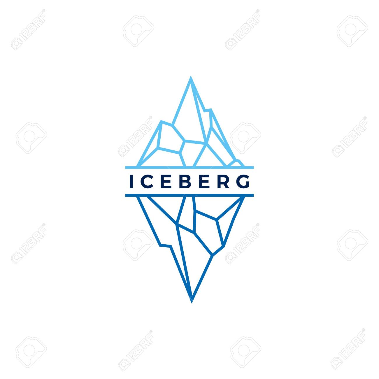 competitive price 2a7a4 41130 iceberg logo geometric line outline monoline illustration