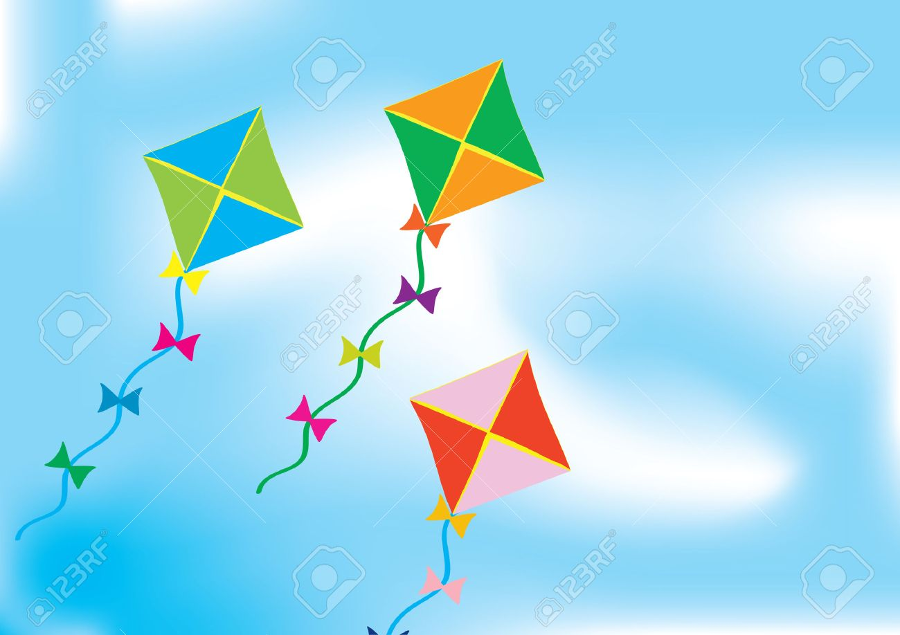 Kite Background Abstract background with three