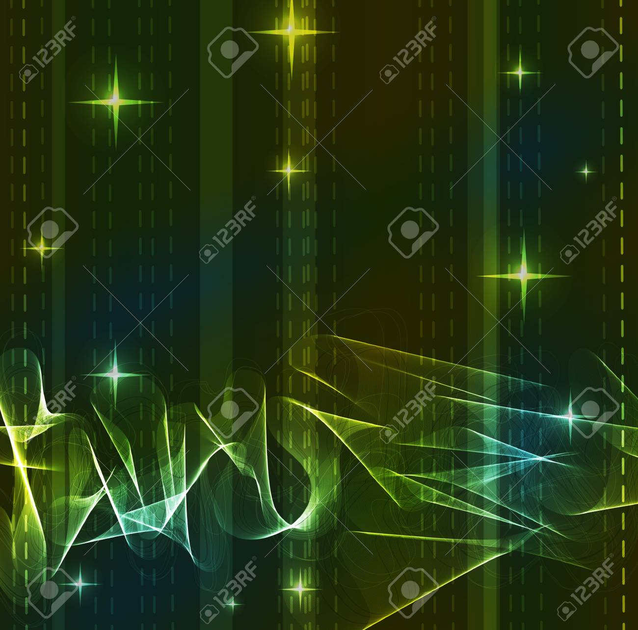 Green Abstract background with wave Stock Vector - 11830978