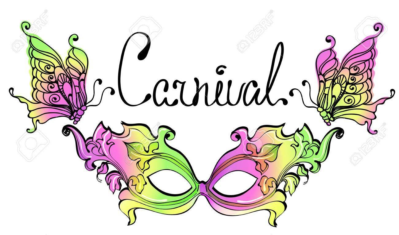 Carnival Mask. Colorful illustration. Stock Vector - 11878185