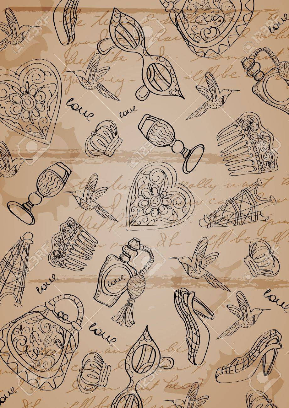 Vintage background with different things Stock Photo - 11926122