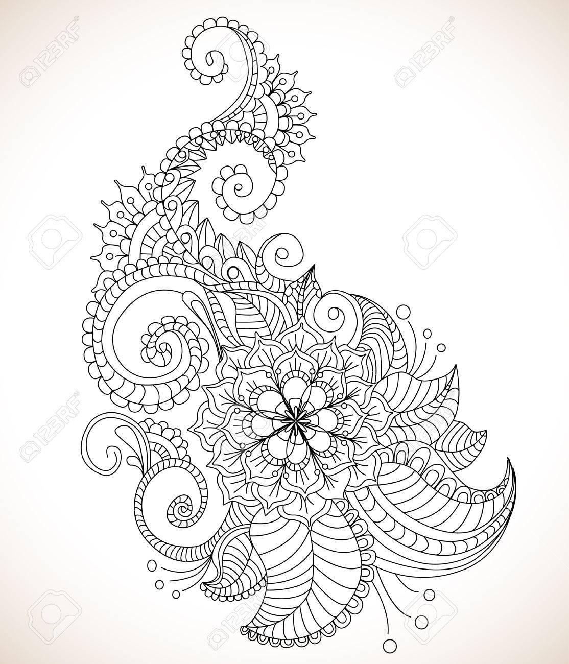 Beautiful floral pattern, illustration Stock Vector - 12437542