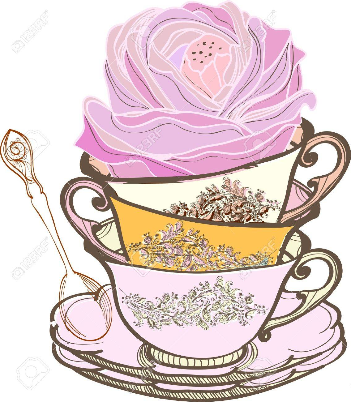 1,887 Afternoon Tea Party Stock Vector Illustration And Royalty ...