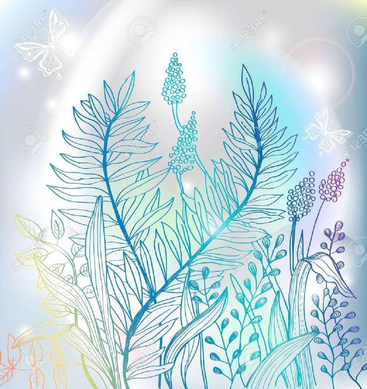 Fondo Romantico Flores De Colores Para El Diseno Ilustracion