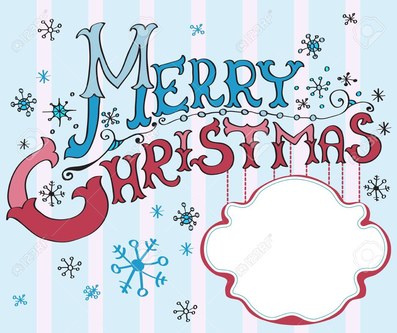 Christmas Card Merry Christmas Lettering Illustration For Your – Christmas Card Letter Templates