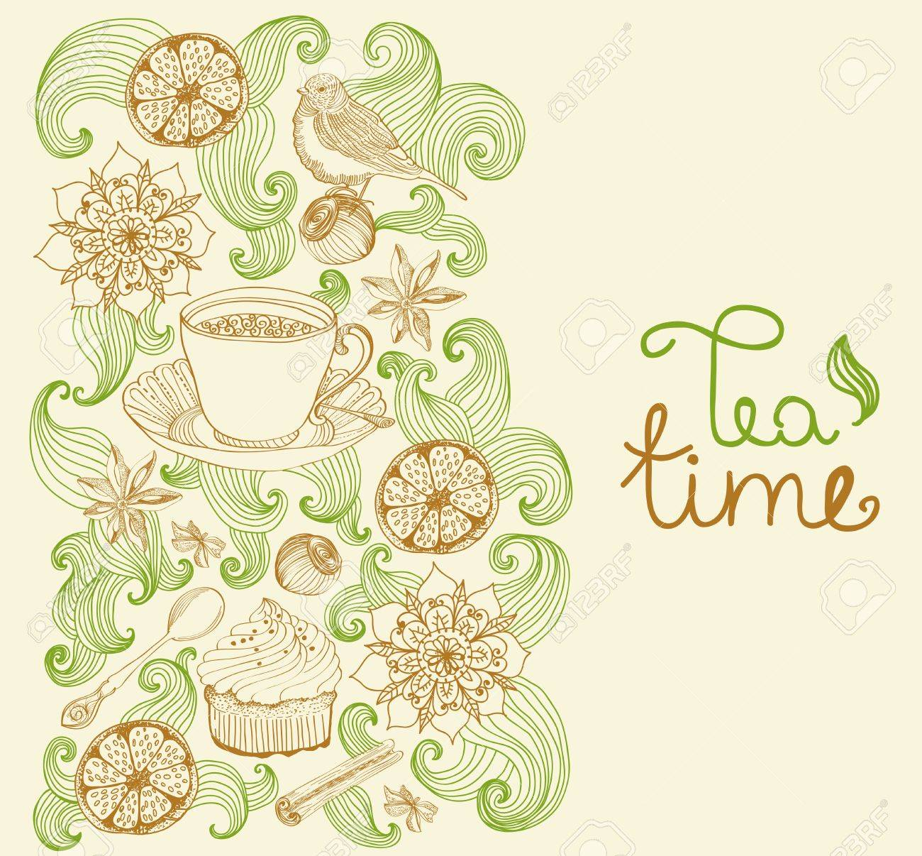 Tea party background royalty free stock photo image 28839215 - Tea Party Background Doodle Background For Tea Time