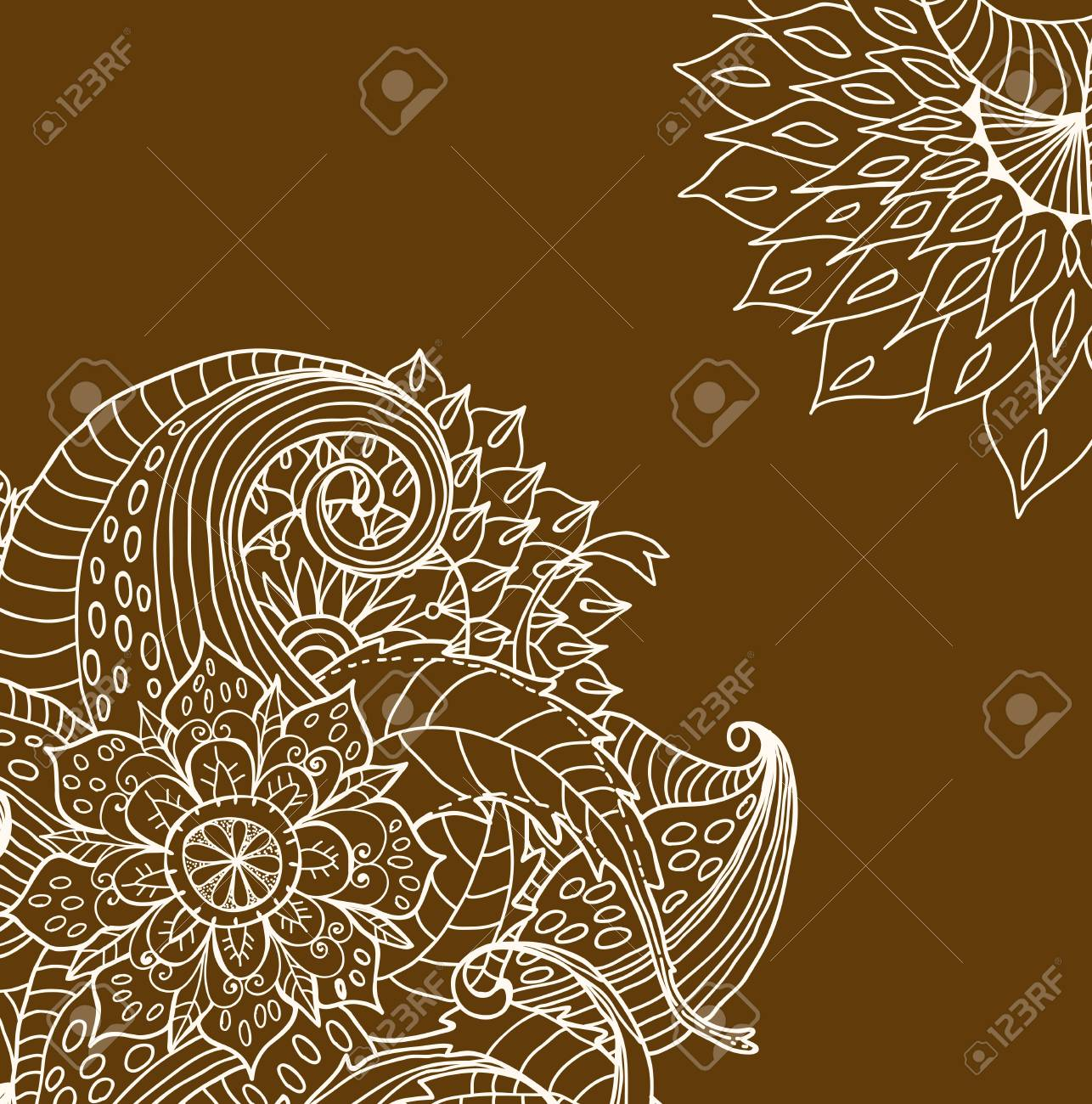hand drawn floral card, illustration Stock Vector - 16458220