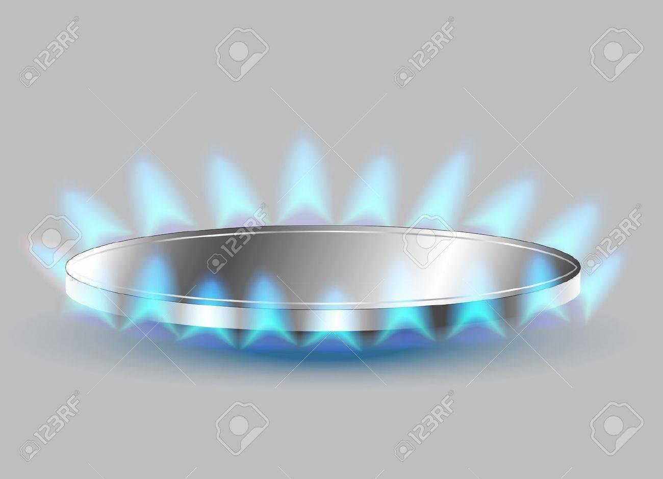 Gas stove burner illustration Stock Vector - 19413938