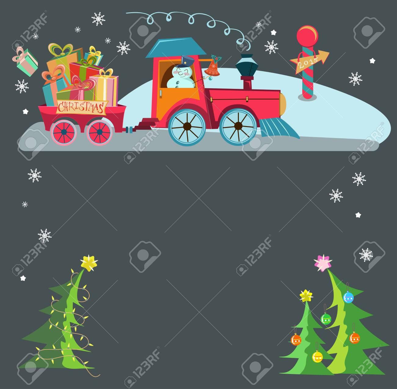 Dibujo Tren Navidad