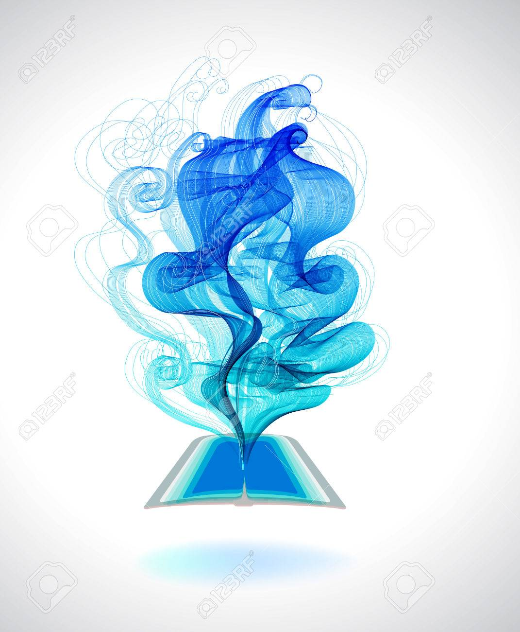 Abstract colorful background book icon and wave, education design Stock Vector - 27270886