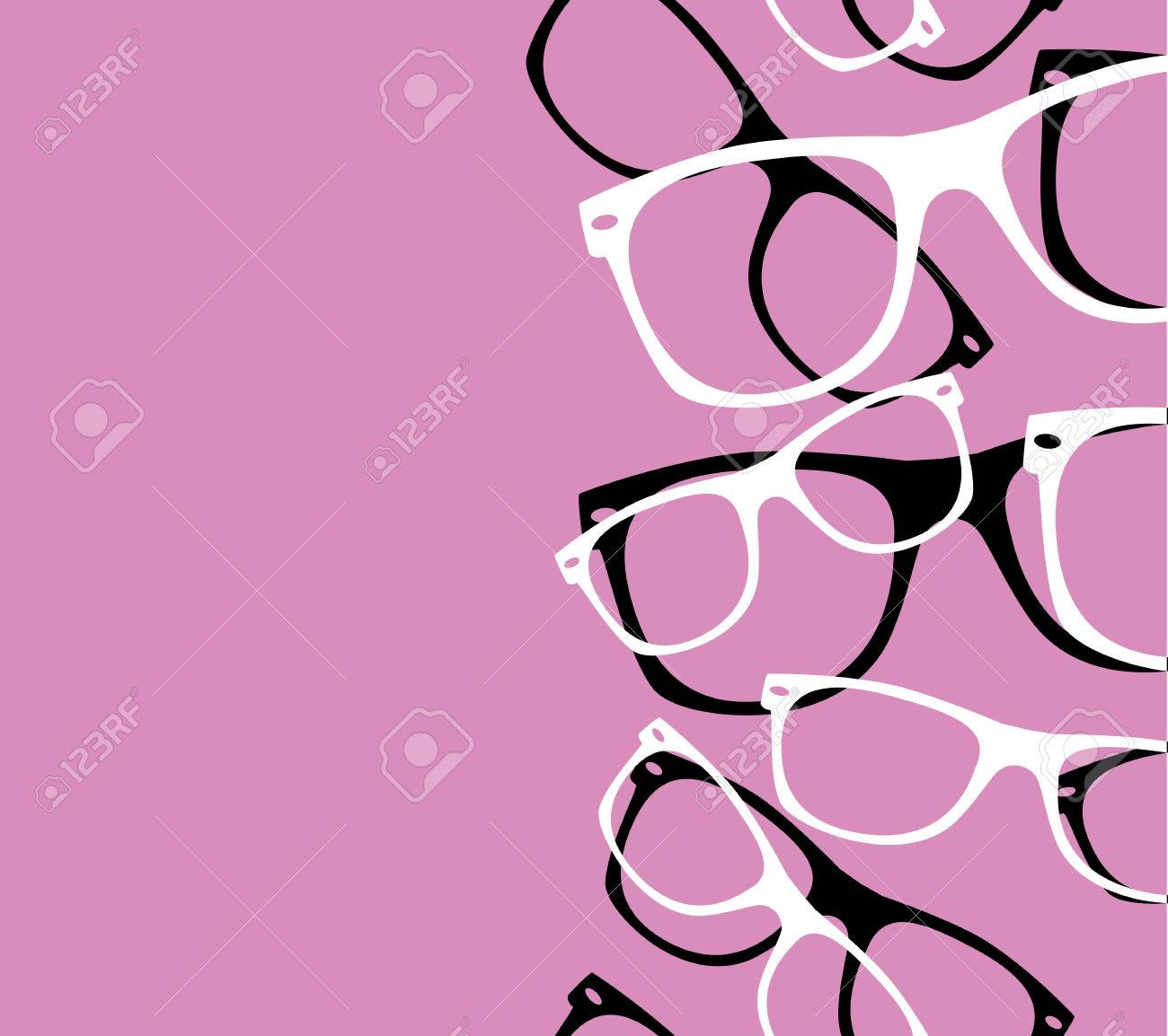 pattern retro hipster sunglasses abstract - 31024304