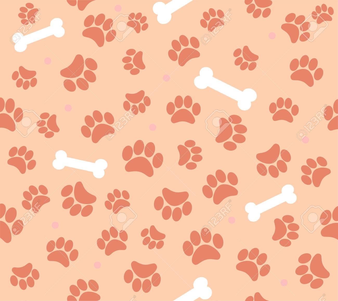 background animal footprints seamless pattern - 31024394